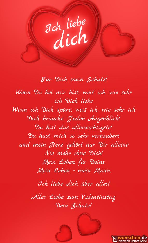 Für Dich mein Schatz - Fertig valentinstag karte